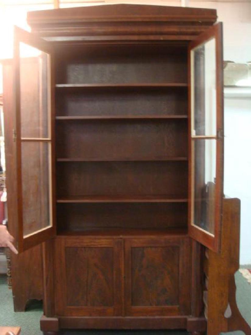 Mahogany Empire Tall Cabinet with 6 Interior Shelves: - 2