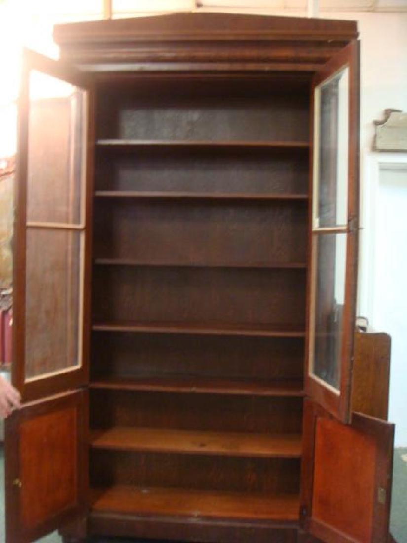 Mahogany Empire Tall Cabinet with 6 Interior Shelves: - 3