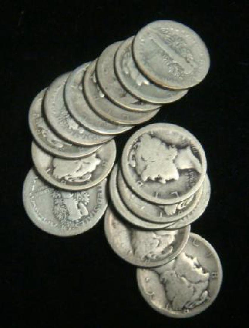 Forty One US MERCURY DIMES 1916-1929, circulated: - 3