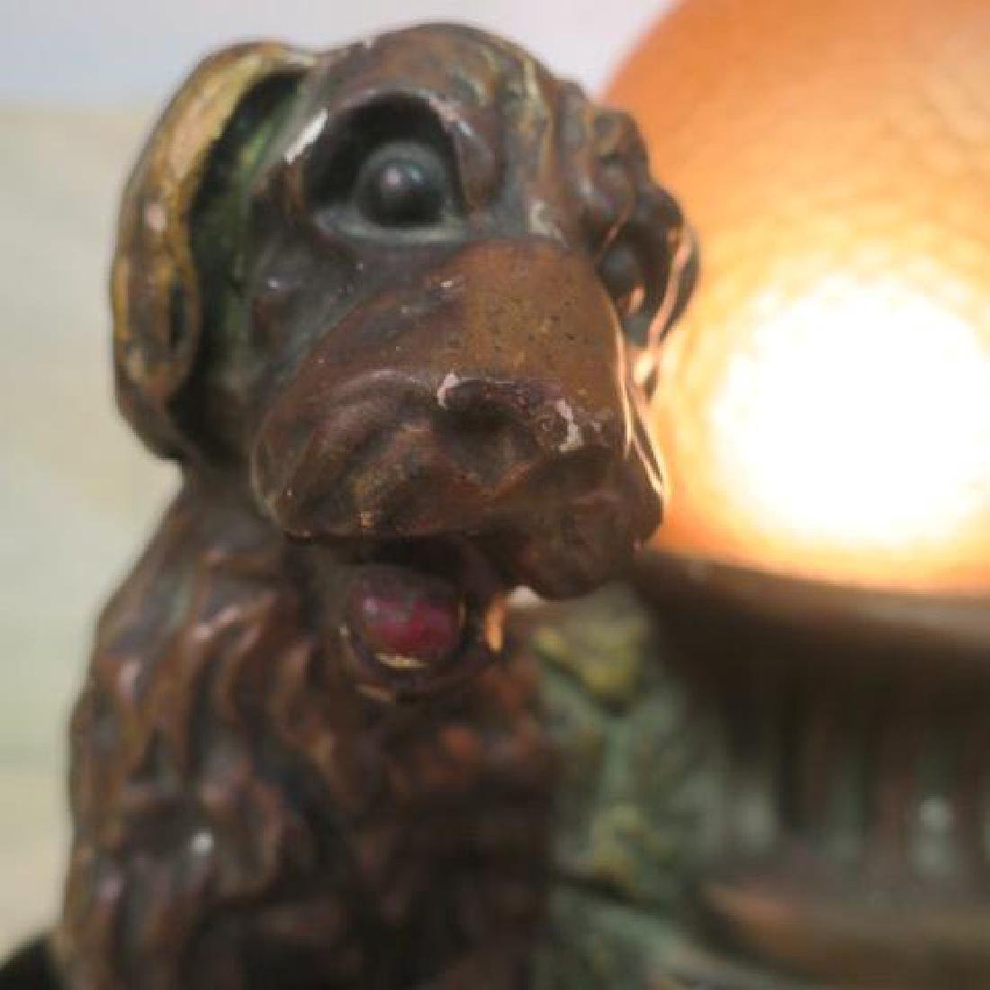 IAS COMPANY Deco Radio Chalkware Lamp: - 2