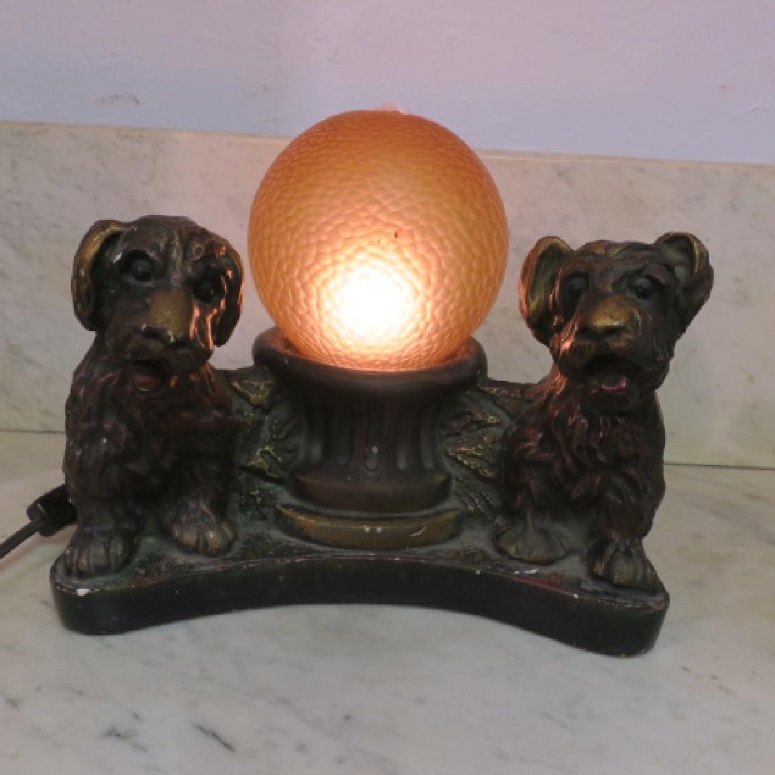IAS COMPANY Deco Radio Chalkware Lamp: - 4