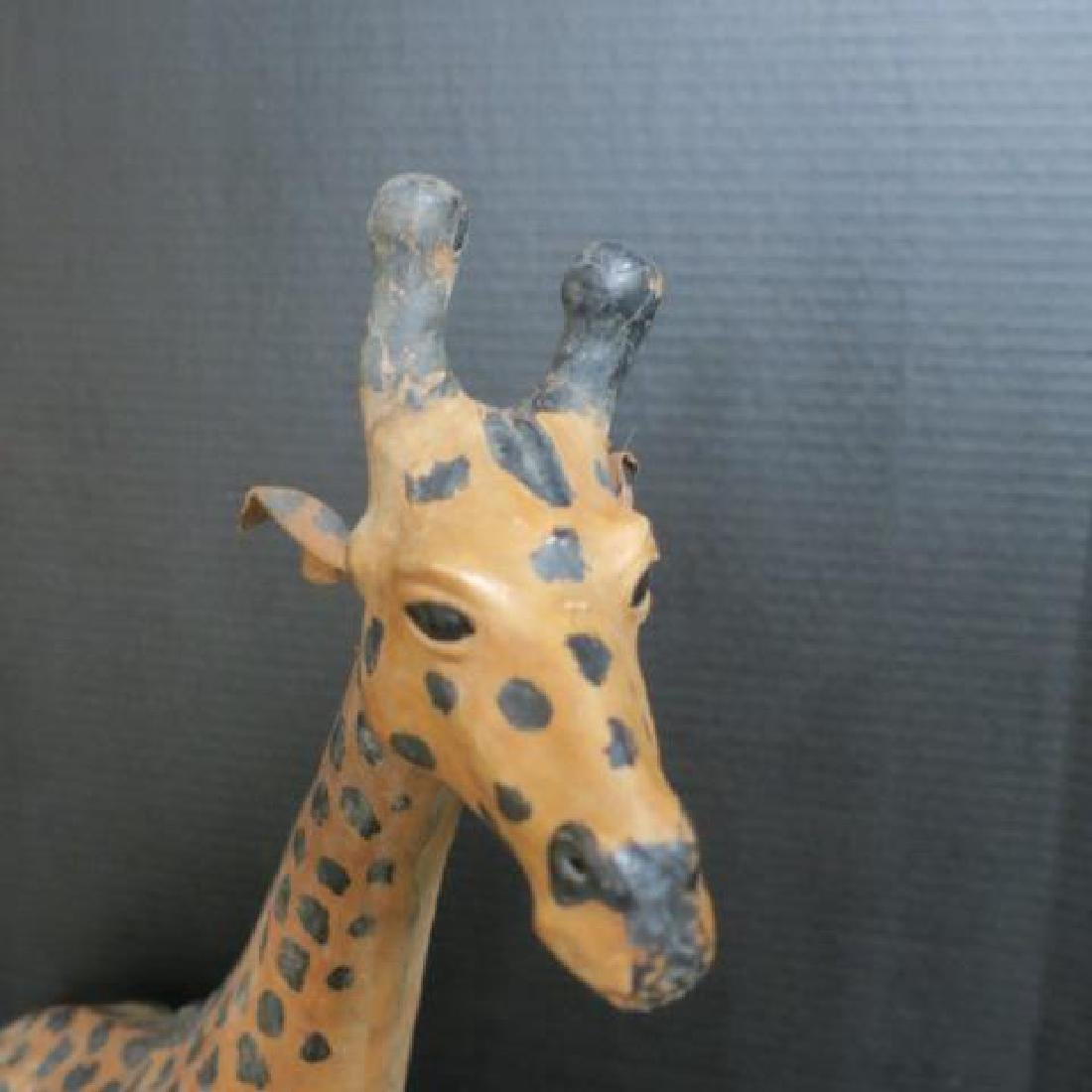 Leather Statue of Giraffe: - 2