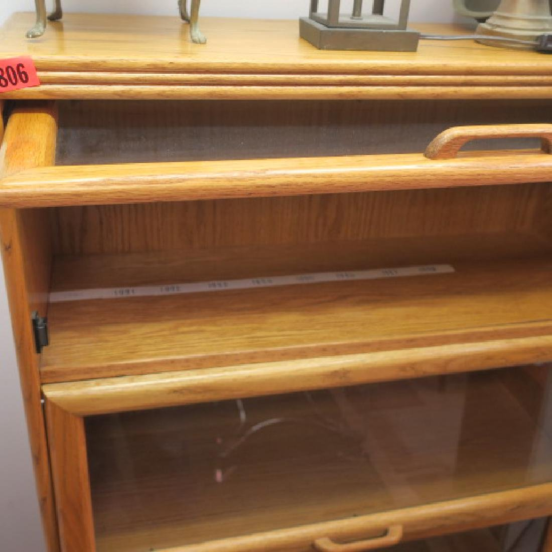 Barrister Style Four Shelf Bookcase: - 2