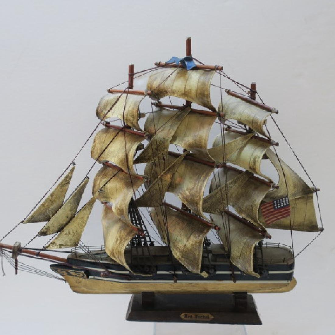 Two Wooden Model Clipper Ships, Pandora and Red Jacket - 2