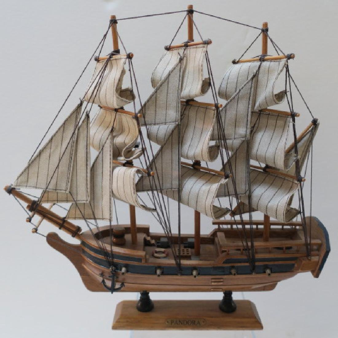 Two Wooden Model Clipper Ships, Pandora and Red Jacket - 3