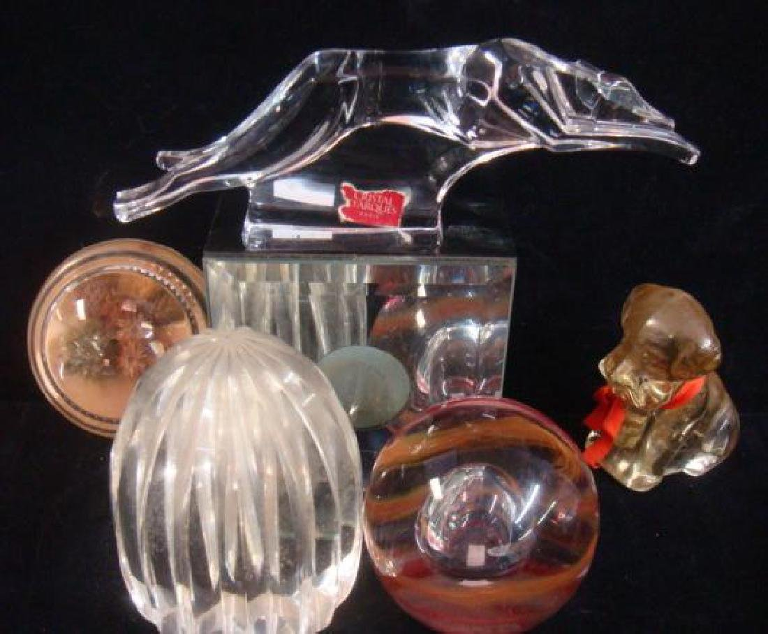 Seven Various Assorted Art Glass Paperweights;