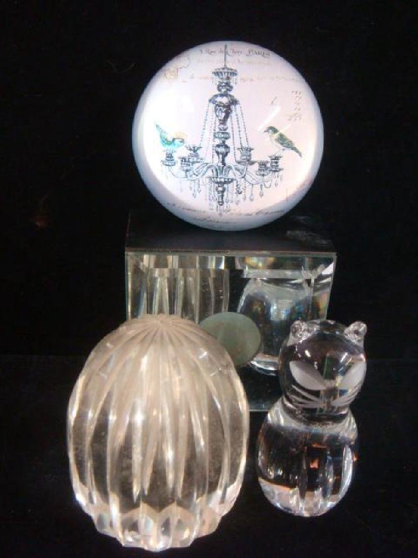 Seven Various Assorted Art Glass Paperweights; - 4