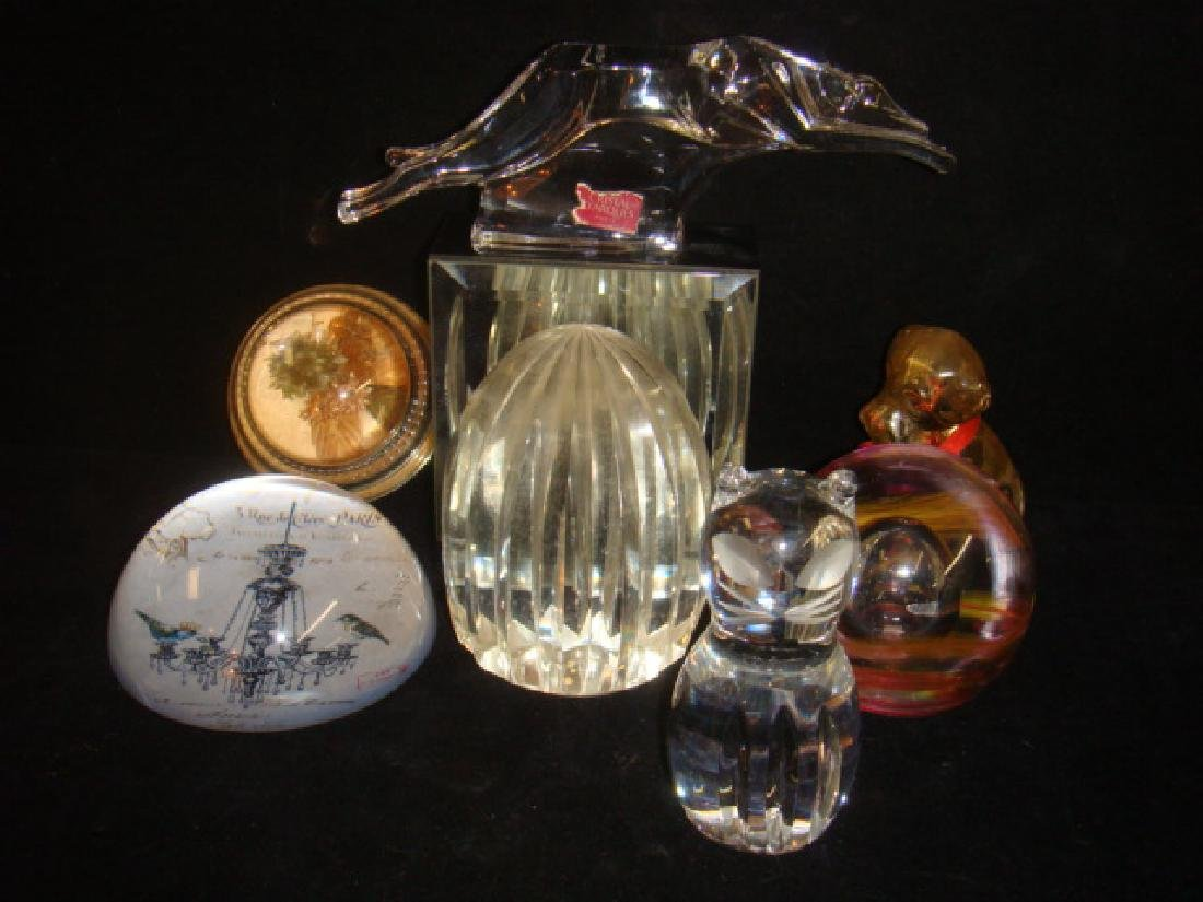 Seven Various Assorted Art Glass Paperweights; - 5