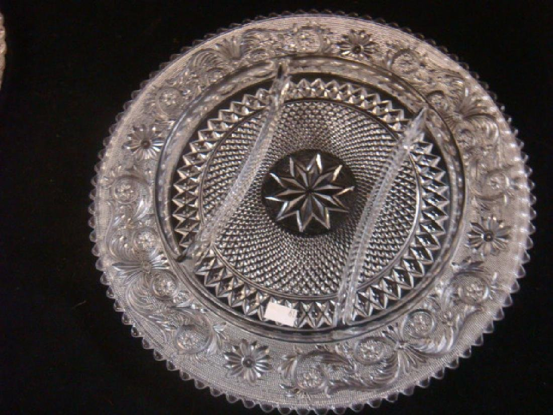 Lot of Four Depression Pressed Glass Trays: - 2