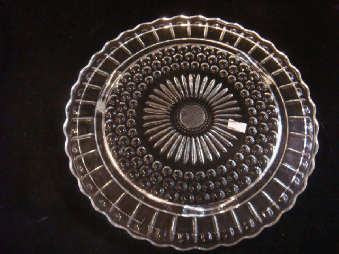 Lot of Four Depression Pressed Glass Trays: - 3