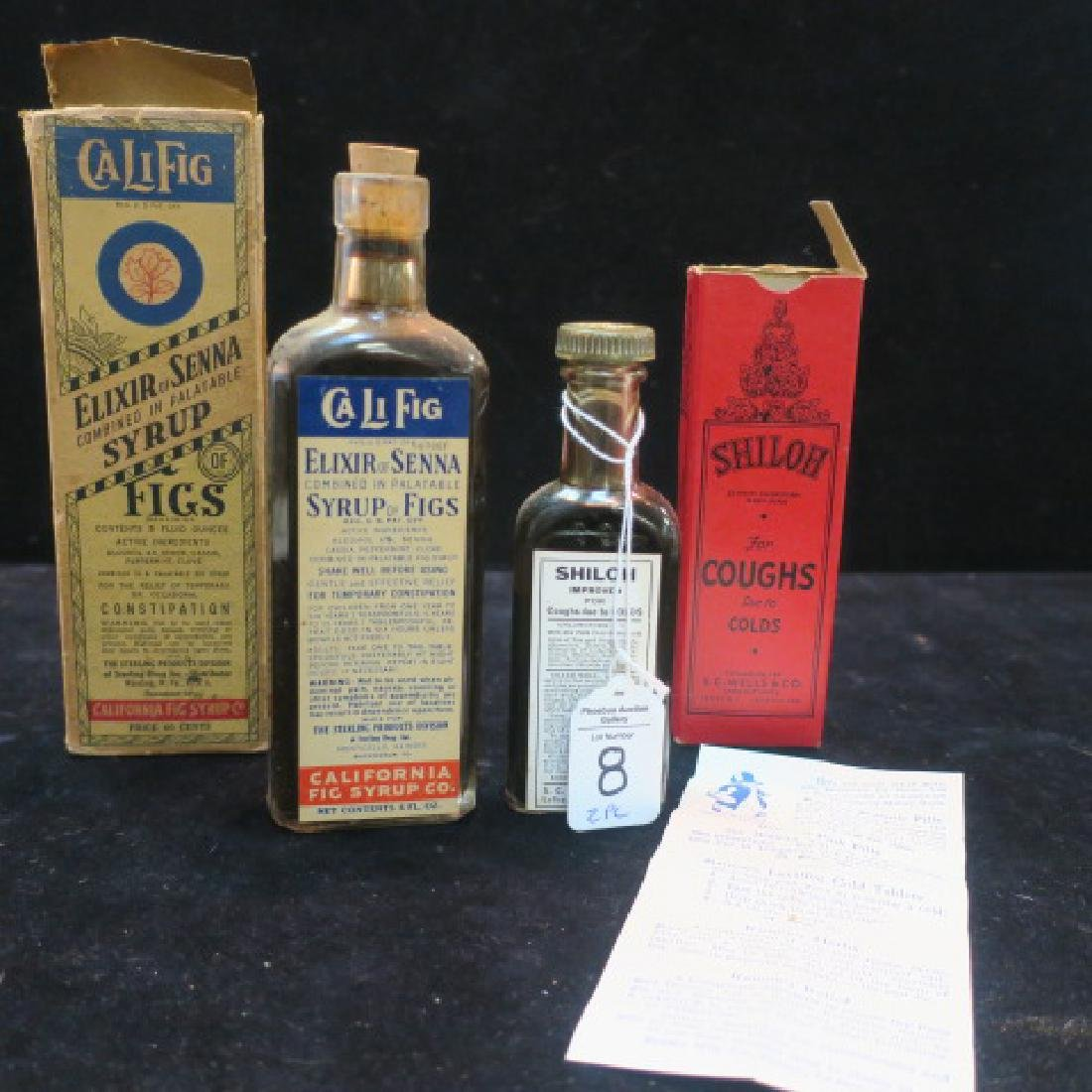 """Two Patent Medicines """"CALIFIG and SHILOH'S"""" in Boxes:"""