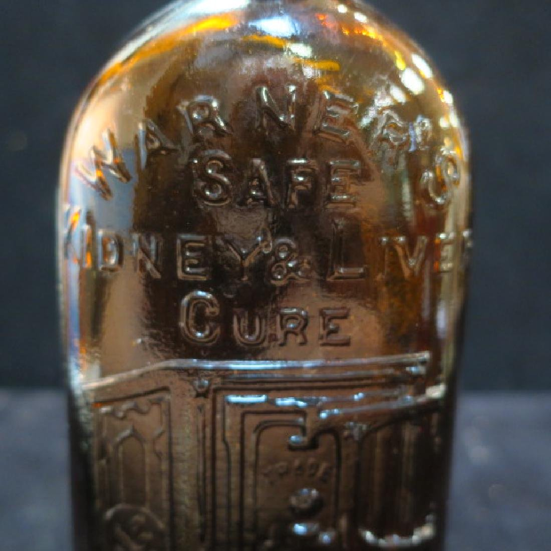 WARNER'S SAFE KIDNEY & LIVER CURE, Amber Bottle: - 4
