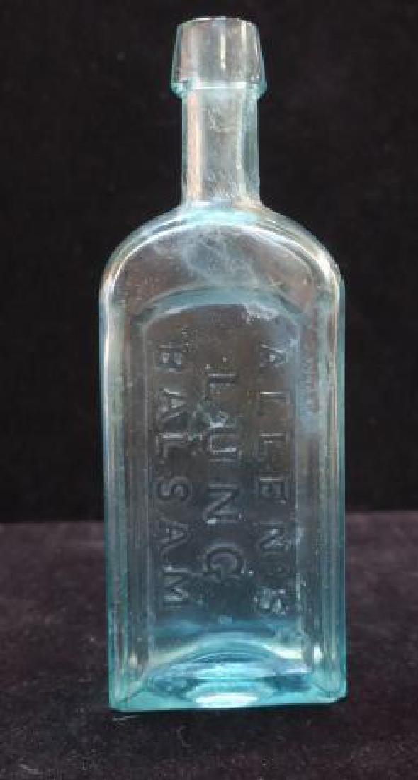 ALLEN'S LUNG BALSAM, Patent Medicine Bottle, CA 1875:
