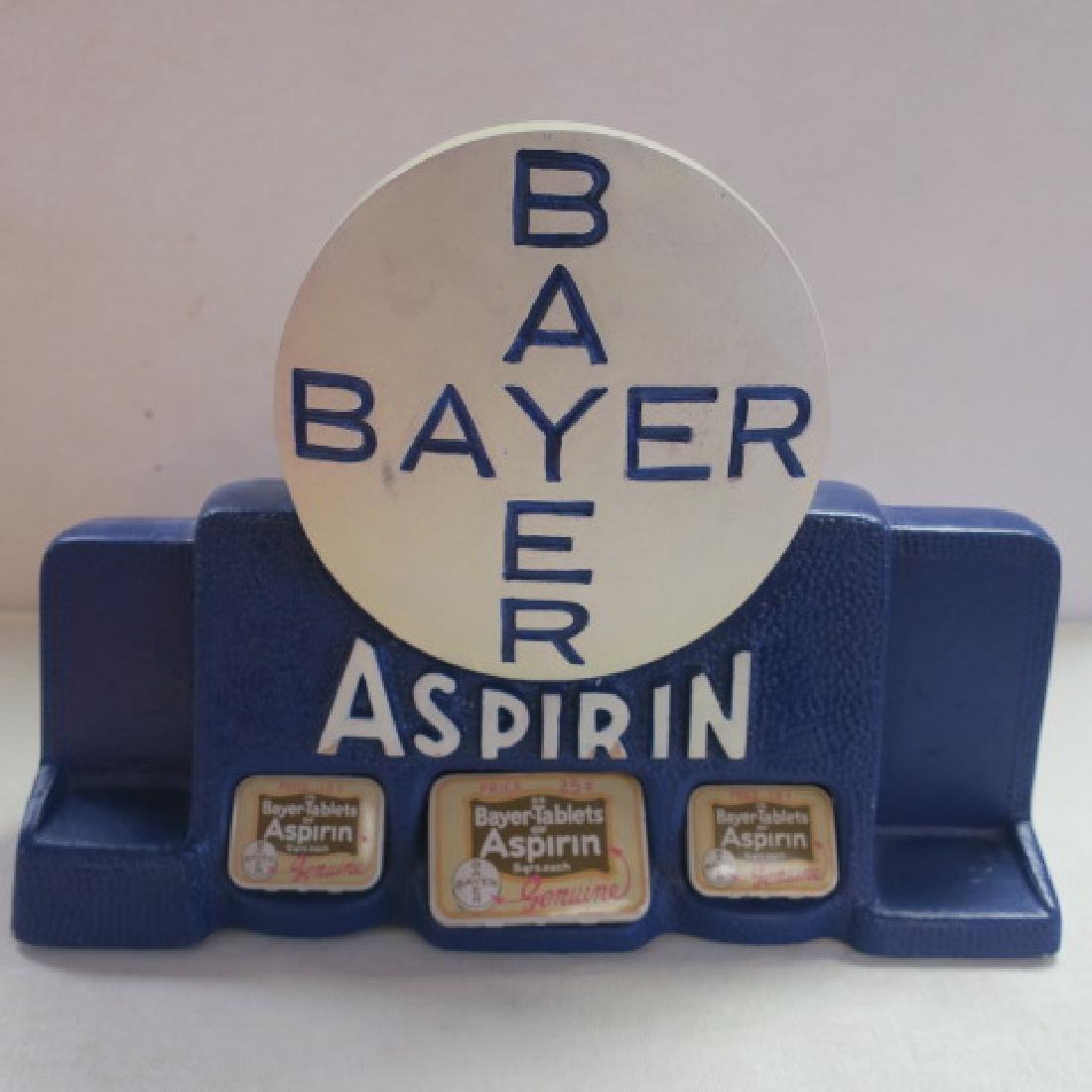 BAYER ASPIRIN Tablets Tin Counter Display: