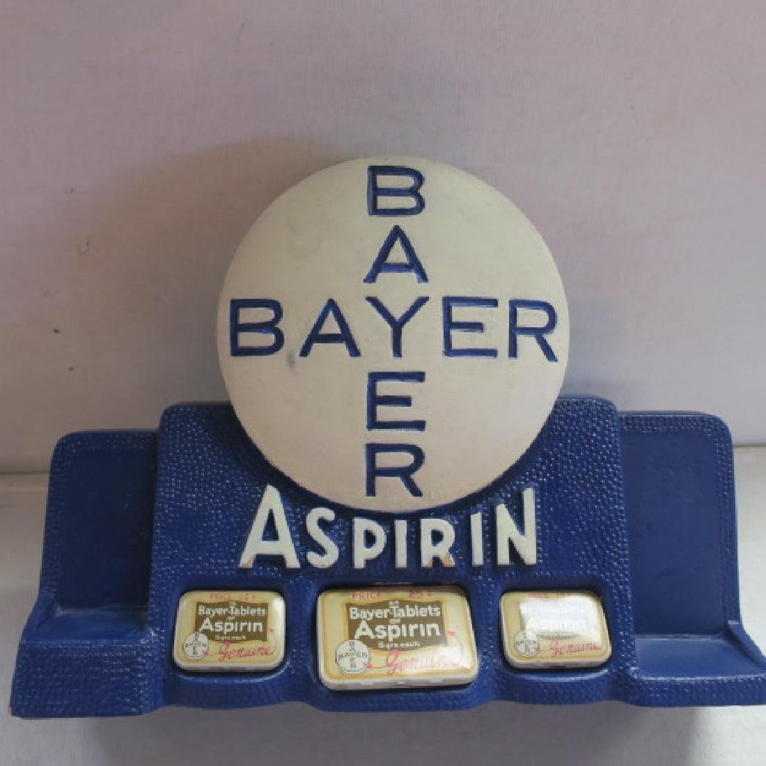 BAYER ASPIRIN Tablets Tin Counter Display: - 2