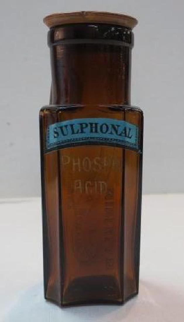 Amber Apothecary Bottle; CULVERWELL & HAWKINS:
