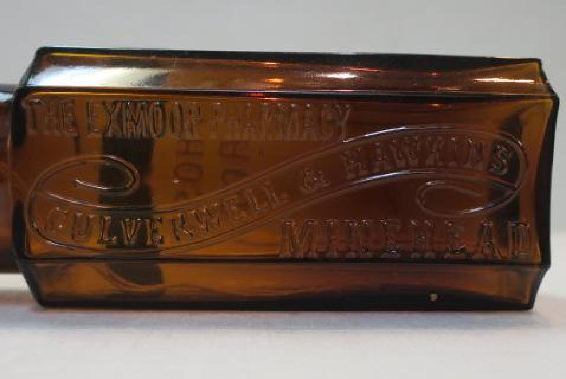Amber Apothecary Bottle; CULVERWELL & HAWKINS: - 2