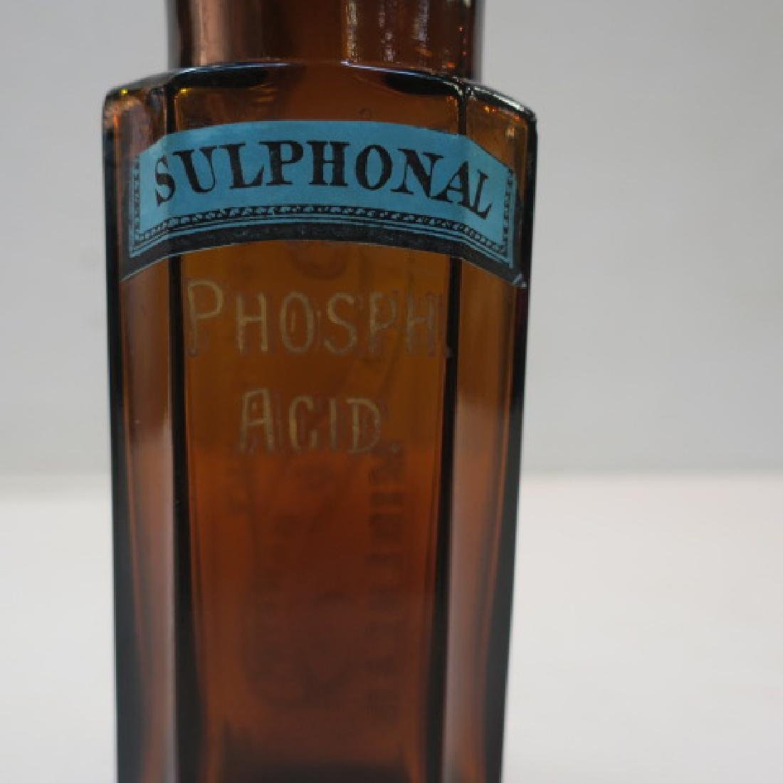 Amber Apothecary Bottle; CULVERWELL & HAWKINS: - 3