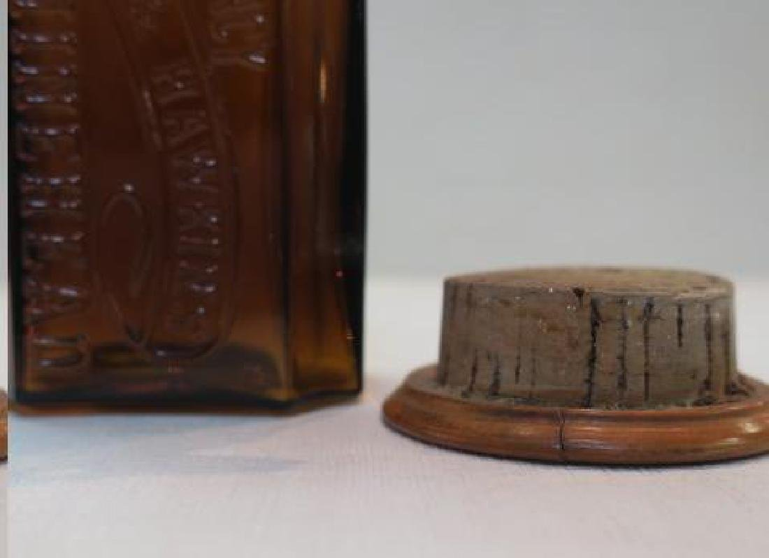 Amber Apothecary Bottle; CULVERWELL & HAWKINS: - 4