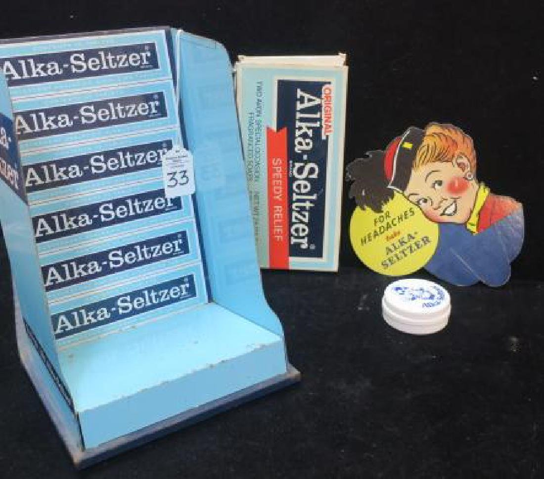 Four ALKA-SELTZER Counter Top Items