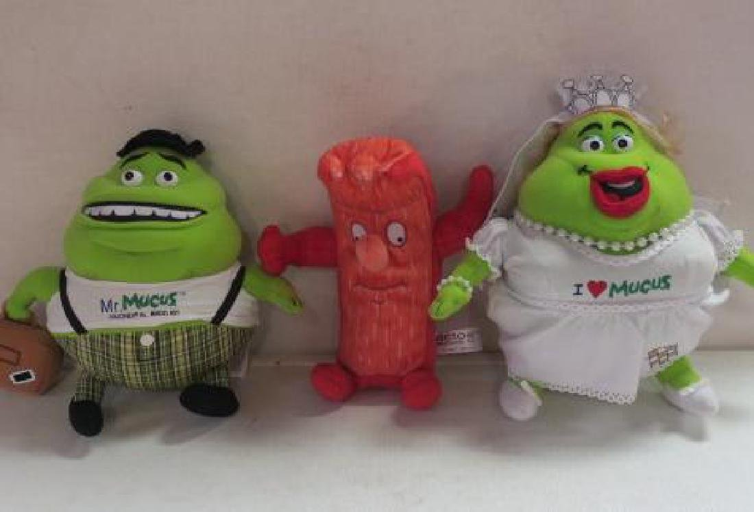 Mr. MUCUS & I LOVE MUCUS and ACTOS Stomach Dolls: