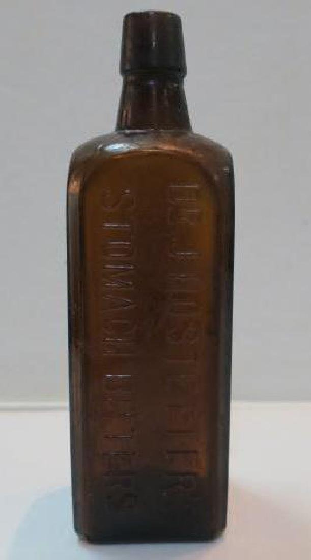 Dr. J HOSTETTER'S STOMACH BITTERS Dark Brown Bottle: