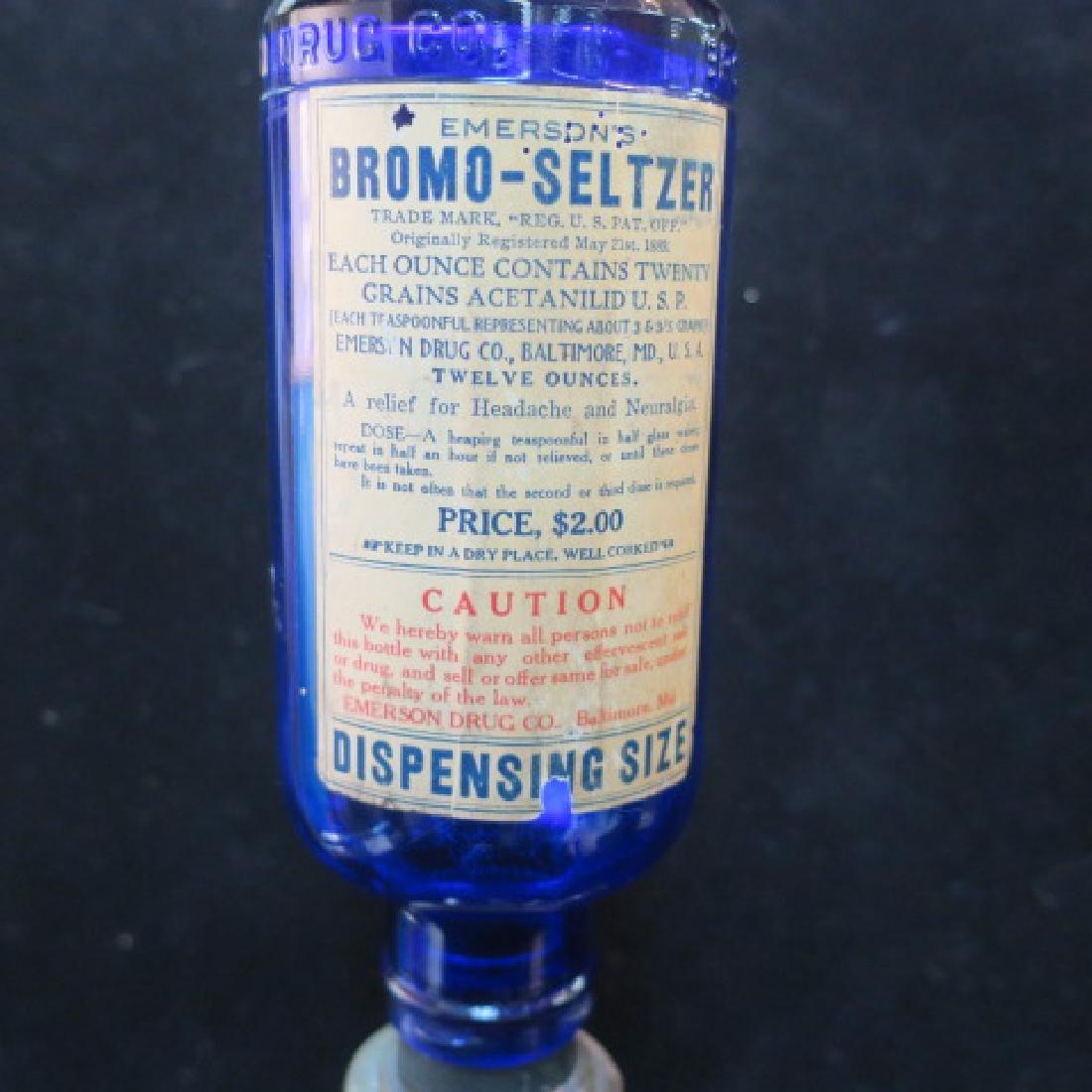 Vintage Countertop BROMO-SELTZER Dispenser with Bottle - 2