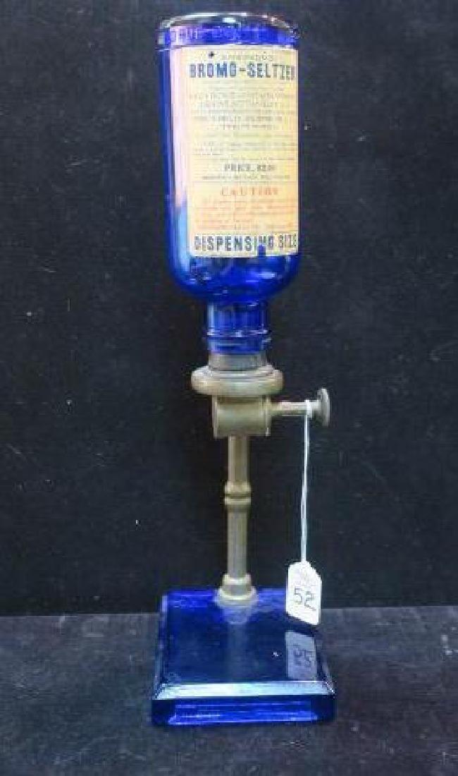 Vintage Countertop BROMO-SELTZER Dispenser with Bottle - 5