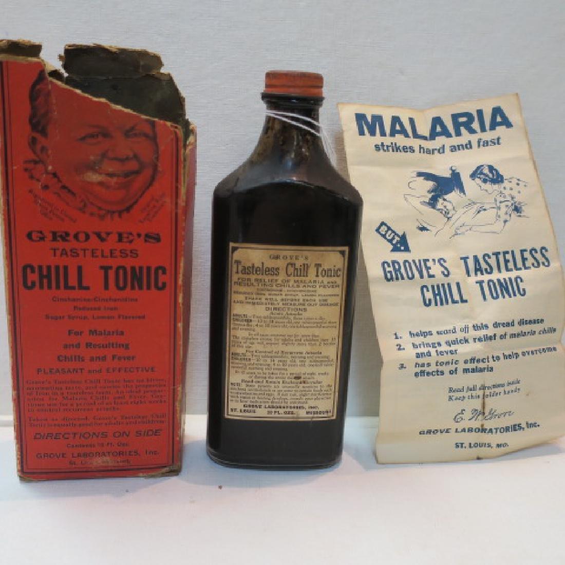 GROVE'S TASTLESS CHILL TONIC in Original Box:
