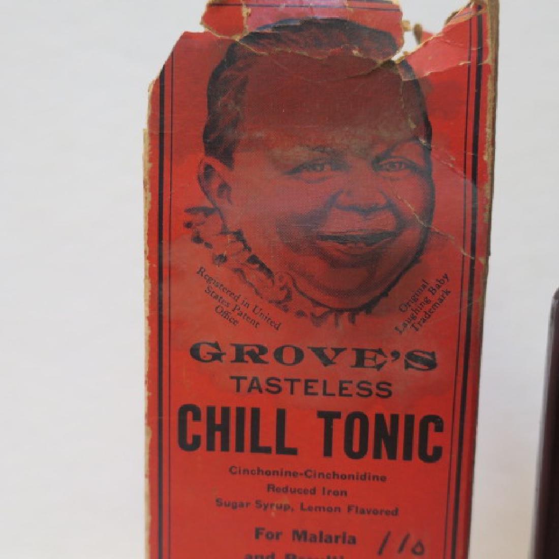 GROVE'S TASTLESS CHILL TONIC in Original Box: - 3