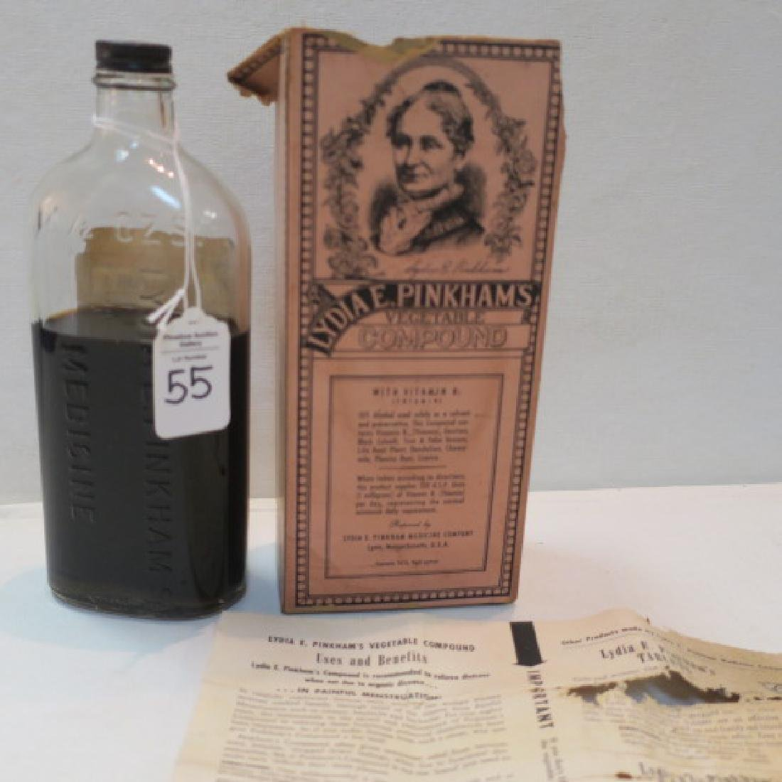 "LYDIA E PINKHAM'S ""Vegetable Compound ""MEDICINE Bottle:"
