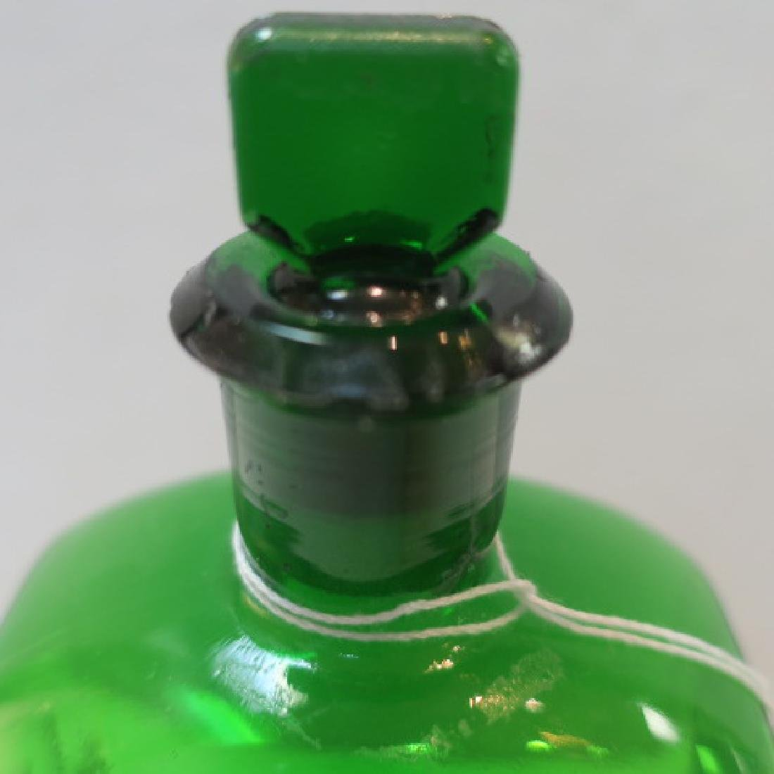 "Green ""LIQ MORPH MUR"" Ribbed Poison Pharmacy Bottle"" - 3"