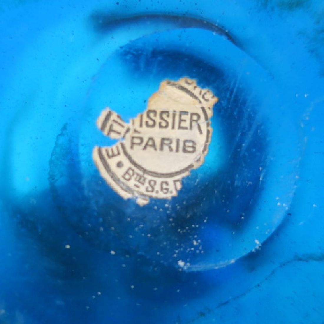 """Azure Antique Apothecary Bottle """"TEINT:d'ALOES"""": - 2"""
