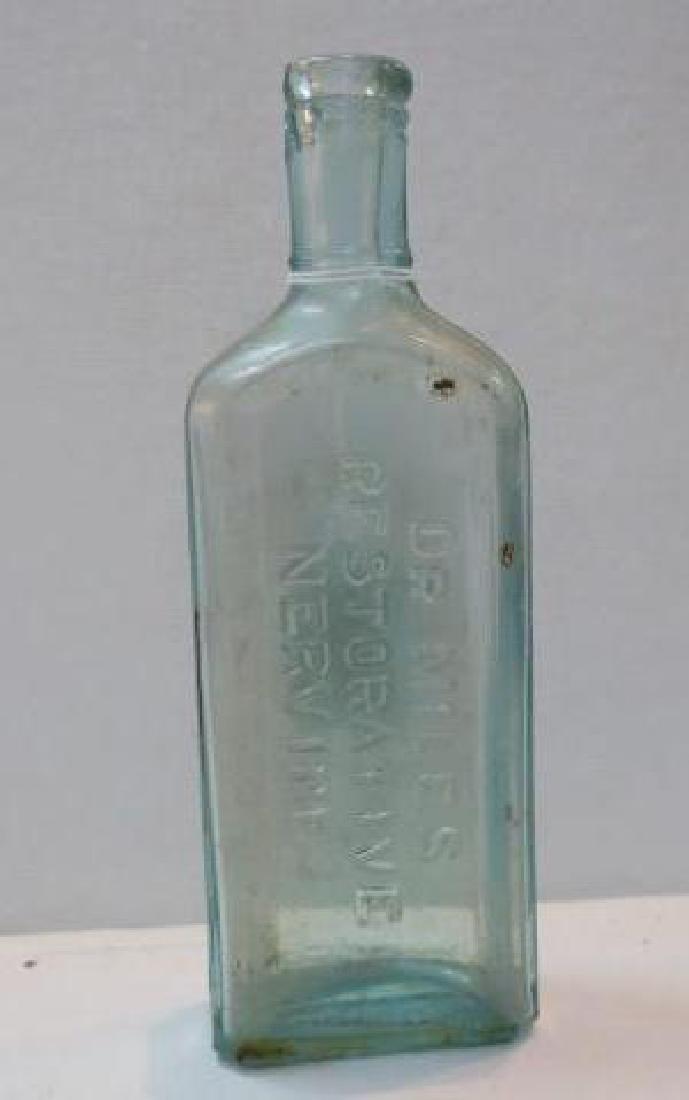 DR. MILES RESTORATIVE NERVINE Patent Medicine Bottle: