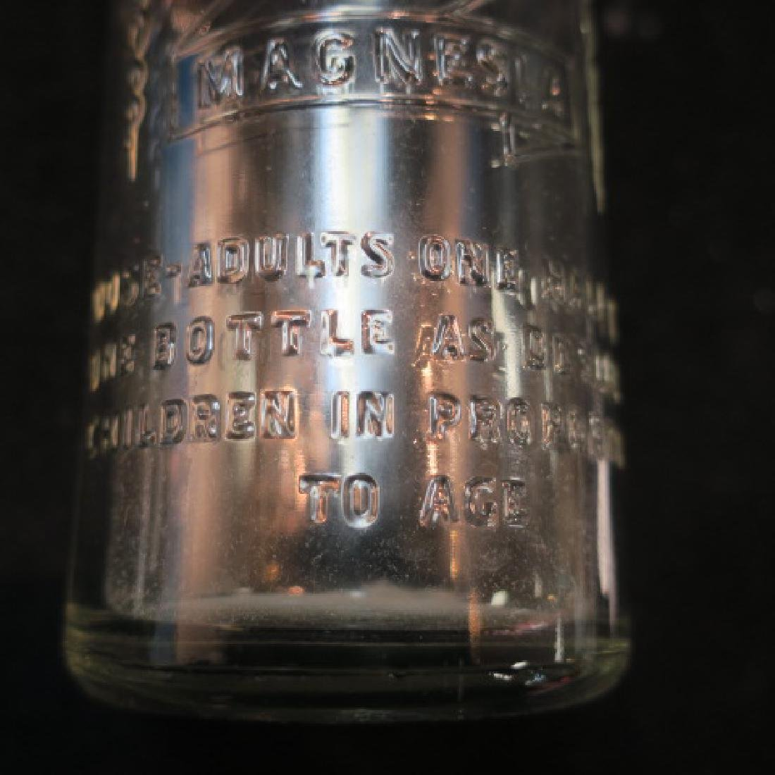 """Clear Glass 8 1/2"""" Flippy Bottle """"CITRATE MAGNESIA"""" - 4"""