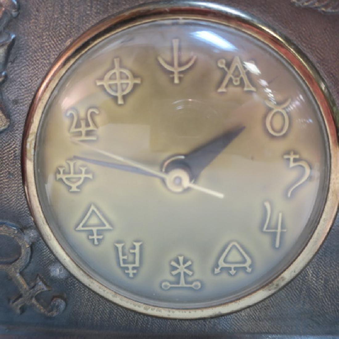 Pharmacy Electric Clock, Brassed Metal Frame: - 2
