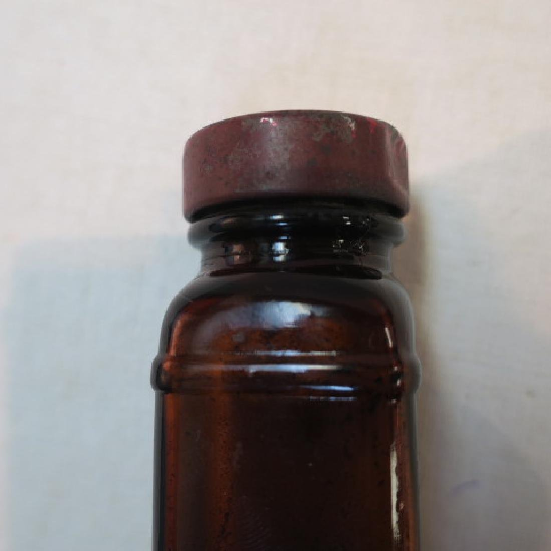 Antique Amber 4 in 1 Square Glass Bottle: - 3