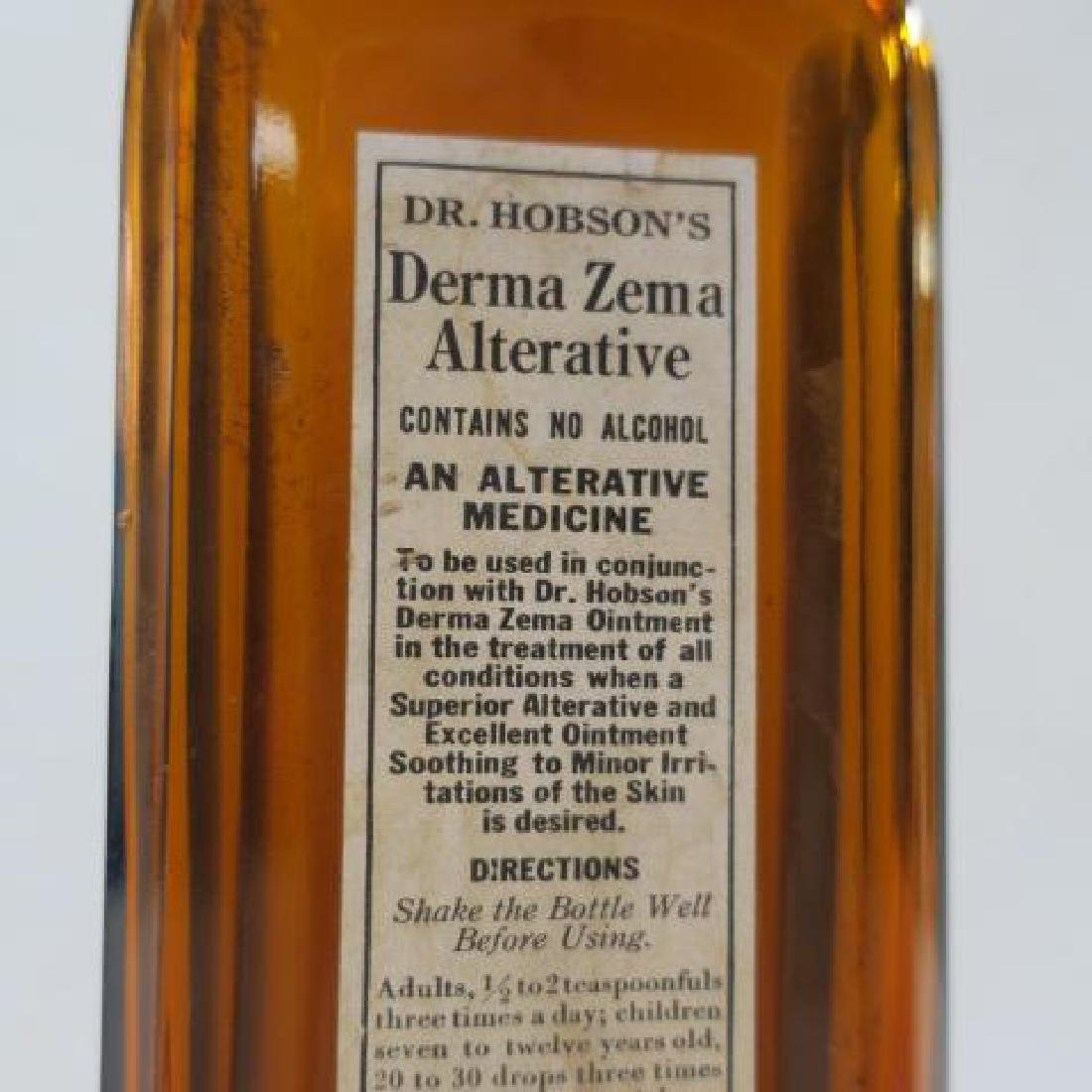 DR HOBSON'S DERMA ZEMA ALTERNATIVE Amber Glass Bottle: - 2