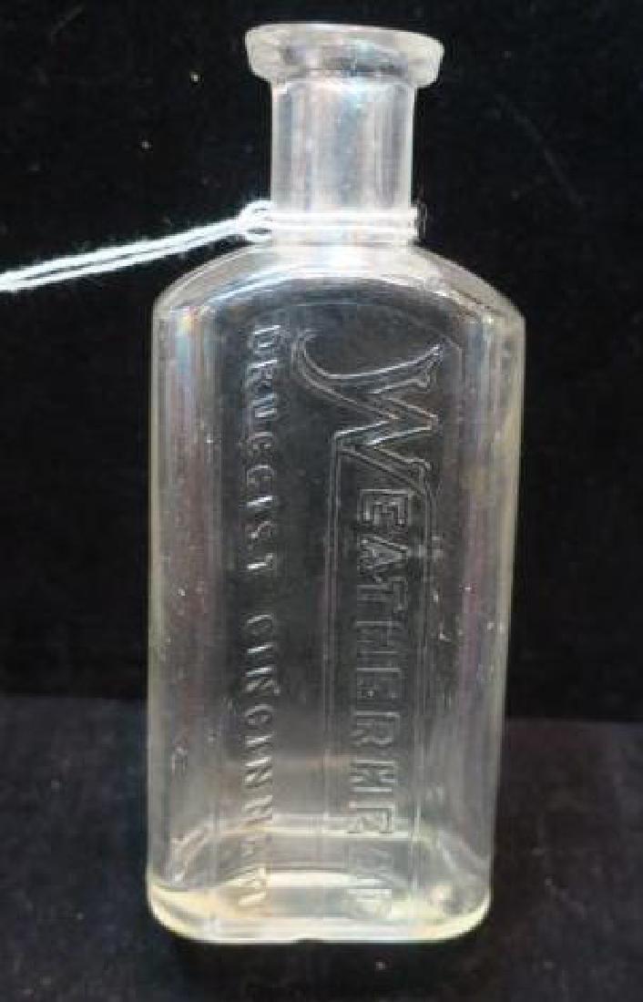 WEATHERHEAD DRUGGIST CINCINNATI Glass Bottle: