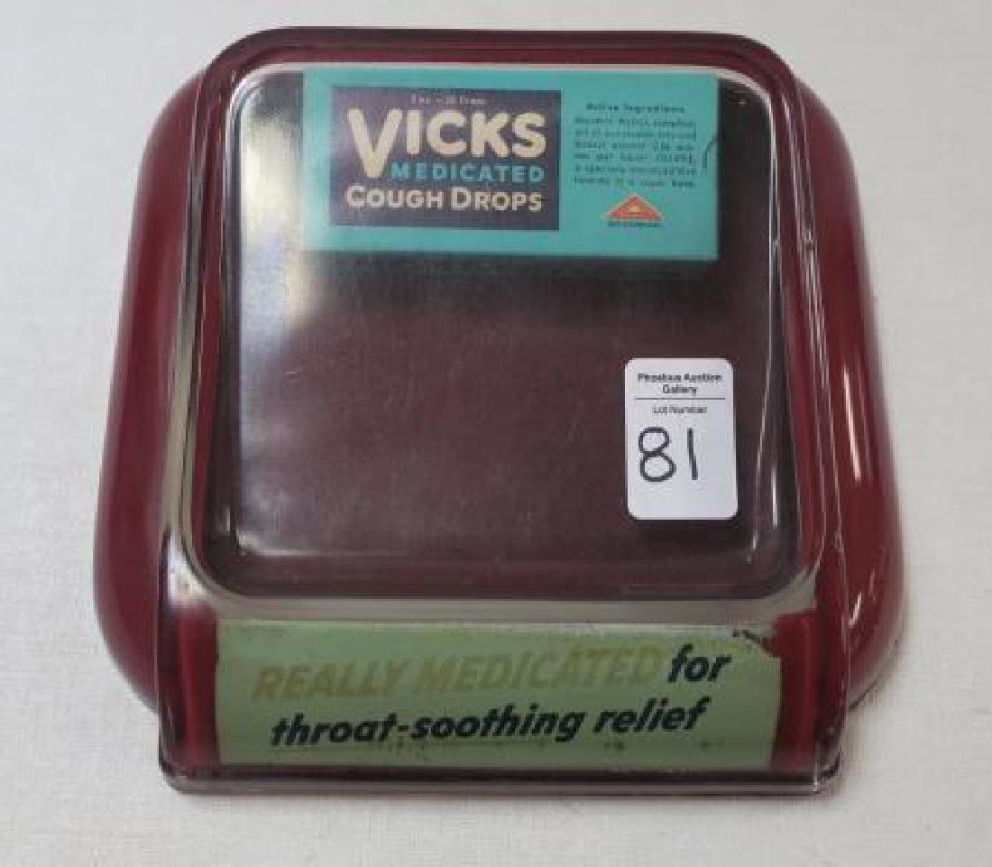 Vintage VICKS MEDICATED COUGH DROPS Change Holder: