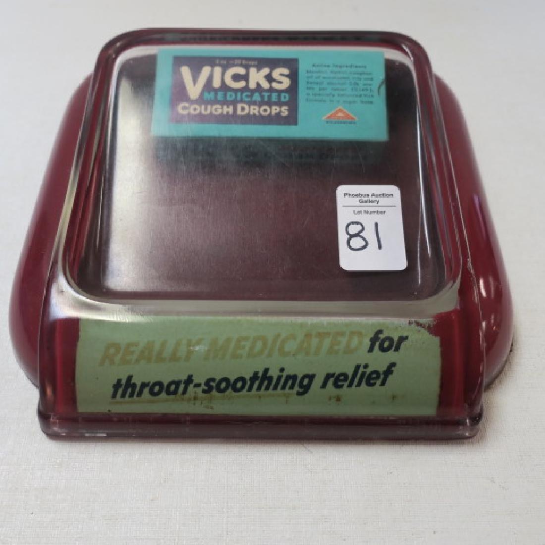 Vintage VICKS MEDICATED COUGH DROPS Change Holder: - 4