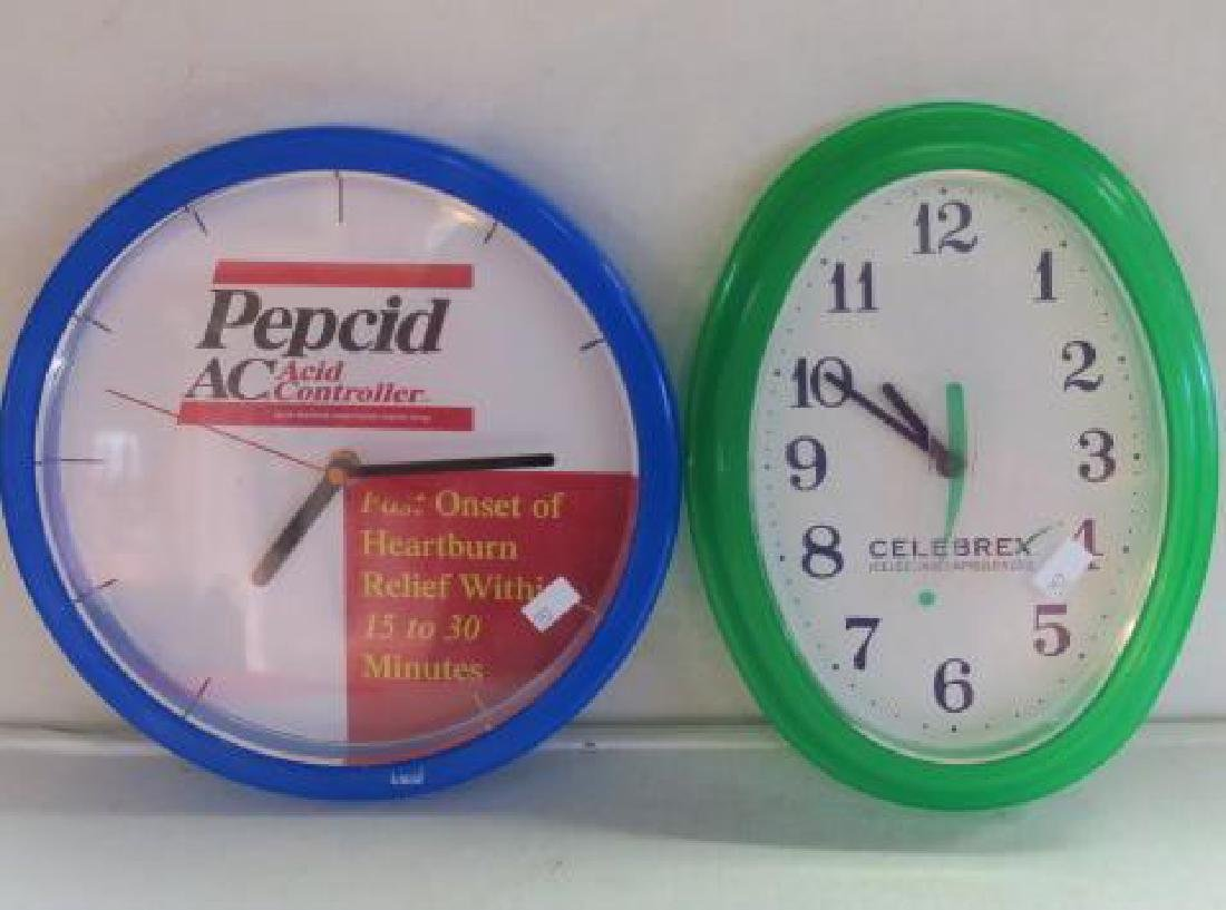 PEPCID AC & CELEBREX Wall Clocks: