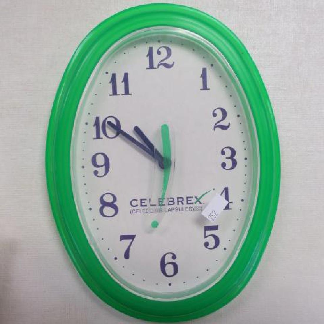 PEPCID AC & CELEBREX Wall Clocks: - 3