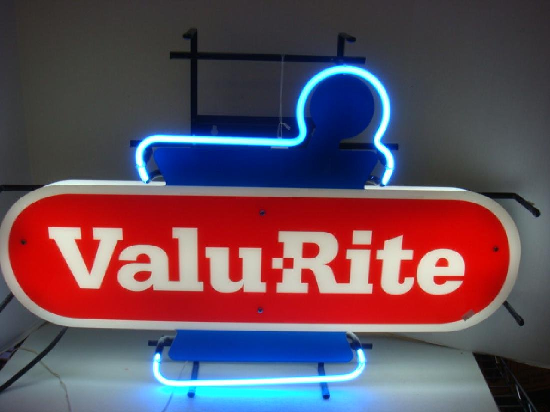 VALU-RITE Pharmacy Hanging Neon Sign:
