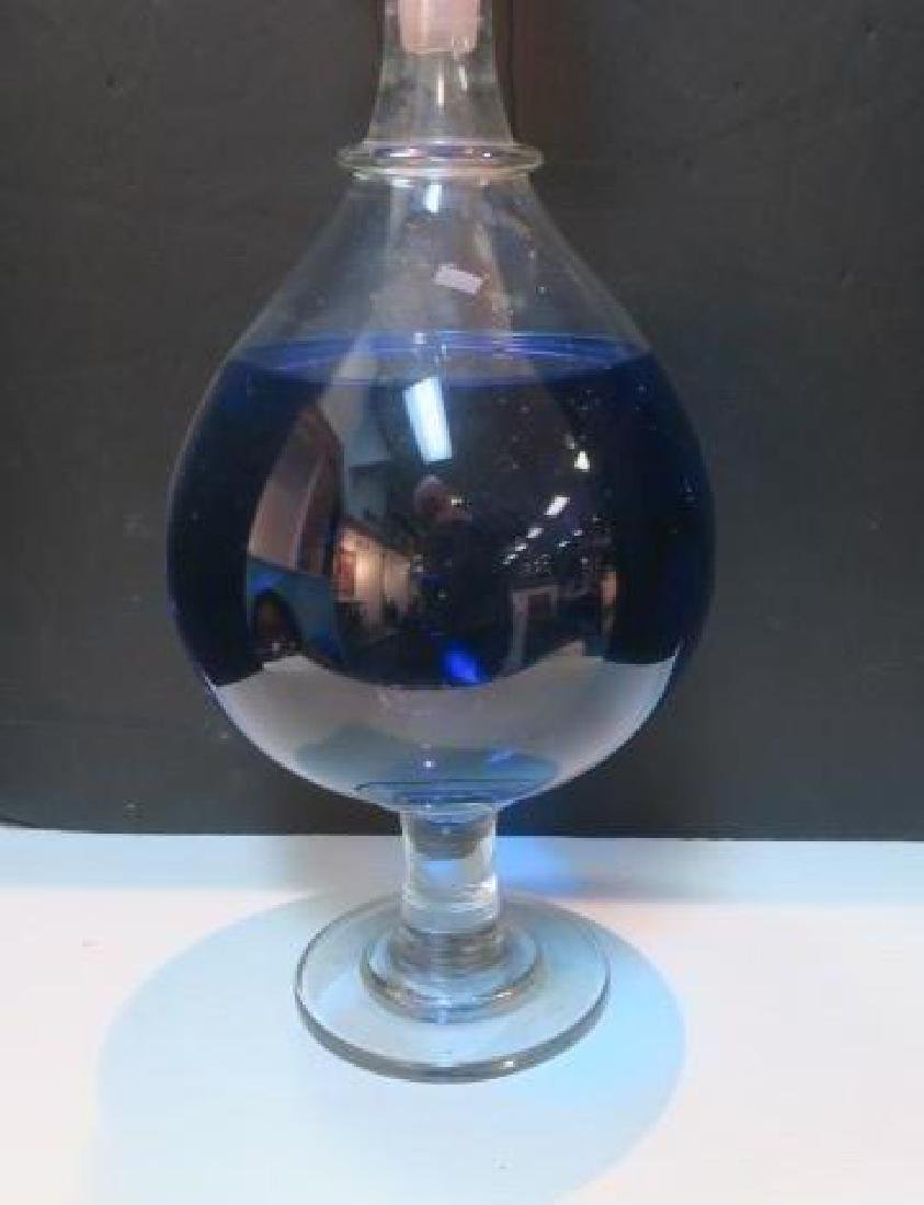 Large Crystal Double Show Globe Pharmacy Vessel: - 3