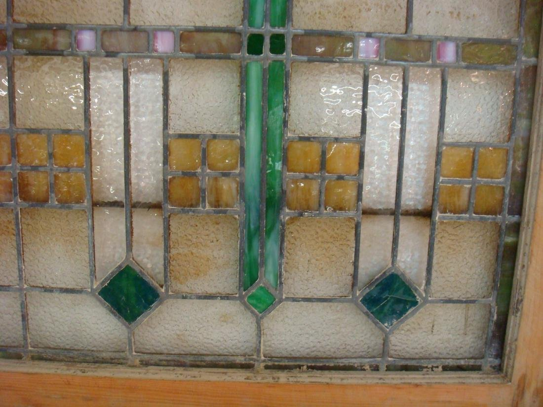 "Large Stain Glass Window ""PRESCRIPTIONS"", CA 1915: - 3"