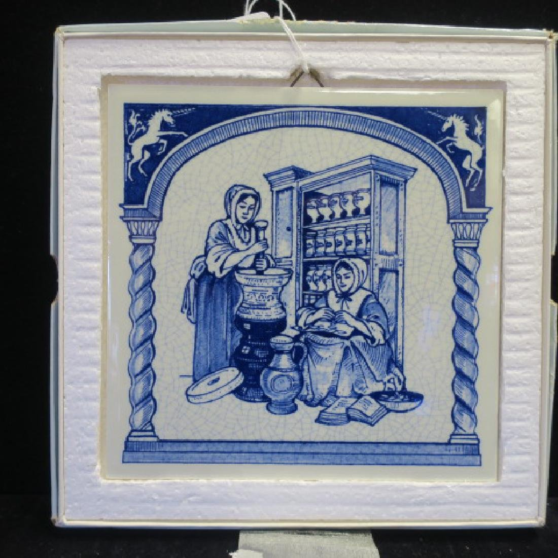 Delft English Pill Tile front BURROUGHS WELLCOME CO: