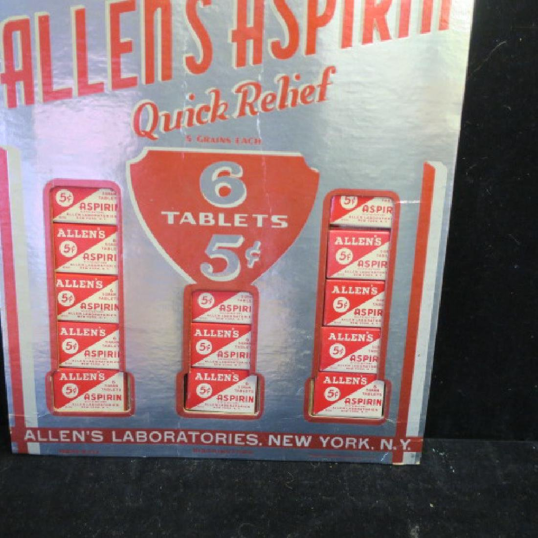 ALLEN'S ASPRIN Counter Display with Mailer Cover: - 2