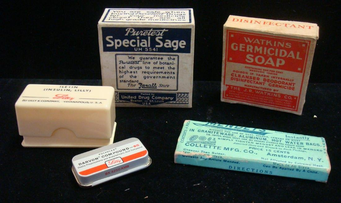 Drug Store Medicine Containers and Such: