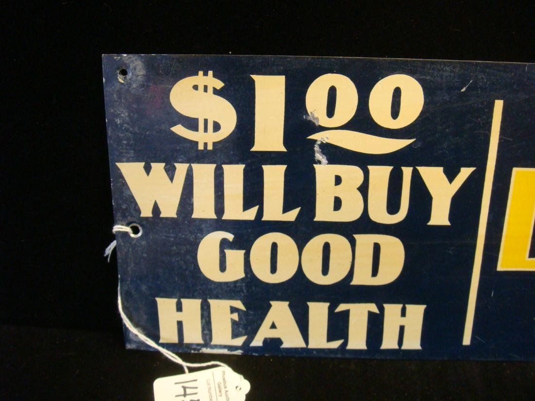 Antique McLEAN'S LIVER and KIDNEY BALM Metal Sign: - 2